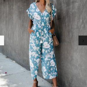 """Vici """"Under the Boardwalk"""" pocketed jumpsuit"""